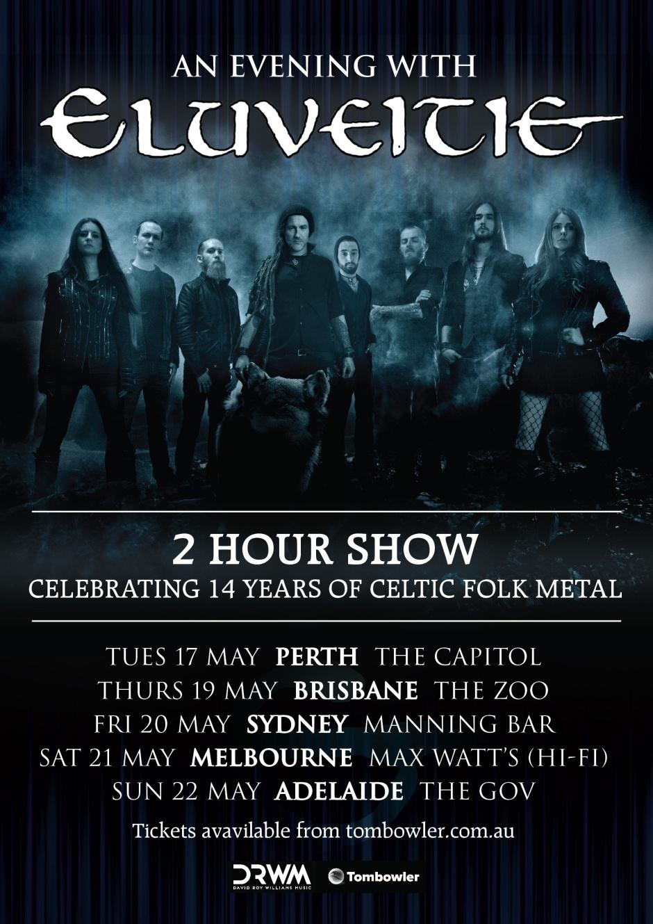 Eluveitie A3 tour poster