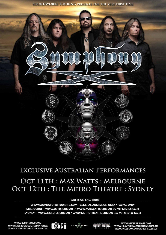 SYMPHONY X Australian Tour 2016