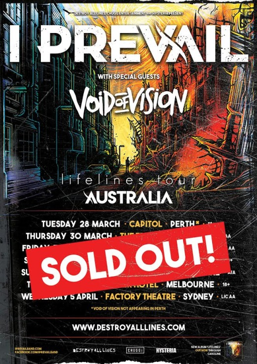 I prevail sold out